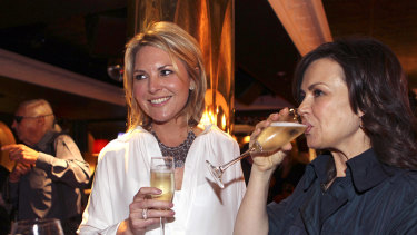 Georgie Gardner and former Today co-host Lisa Wilkinson at Richard Wilkins' book launch.
