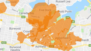 Power is out in multiple suburbs in Sydney's inner west.