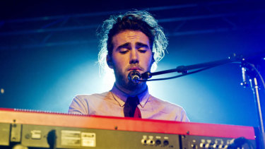 Matt Corby rotated between drums, guitar, keyboard and flute.