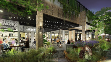 The Bradley Street Precinct at Westfield Woden includes six new restaurant offerings and is just weeks away from opening.