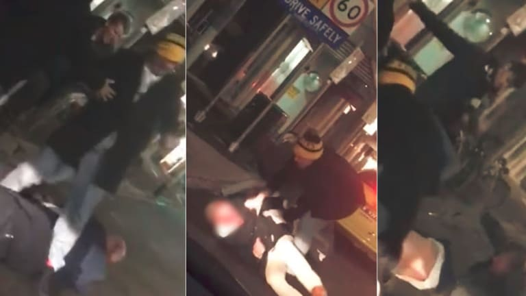 Images from mobile phone footage of the attack.