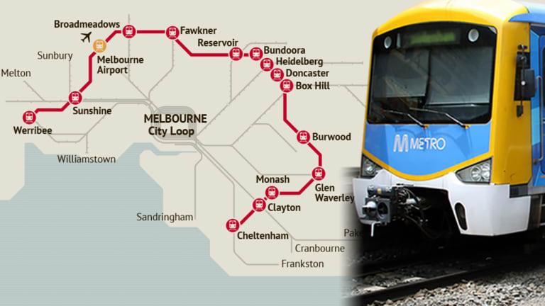 The proposed suburban rail loop.