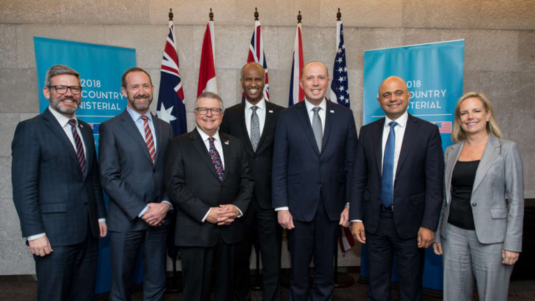 Ministers representing the Five Eyes intelligence allies at meetings on the Gold Coast this week.