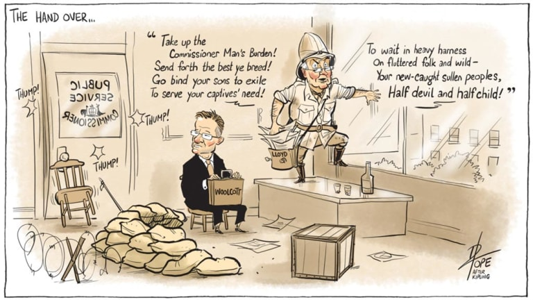 The Public Sector Informant, August 2018. Cartoon: David Pope