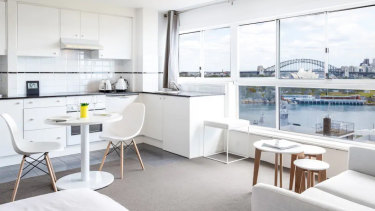 A studio in Potts Point has prize views of Sydney Harbour and a price tag to match.
