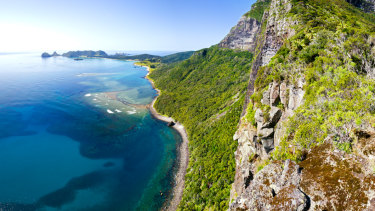 Lord Howe Island has a population of about 380 and only permits 400 tourists at a time.
