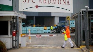 SPC's Ardmona plant.