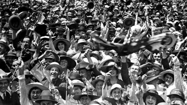 Armistice Day celebrations - but not everybody had something to celebrate.