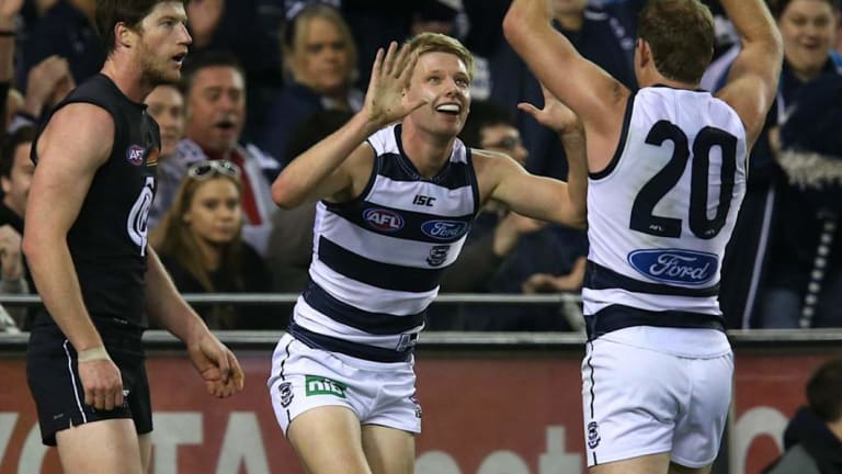 Coast to coast: Geelong's George Horlin-Smith is off to the Suns.