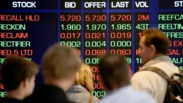 The Australian sharemarket wiped out its gains by the end of trading.