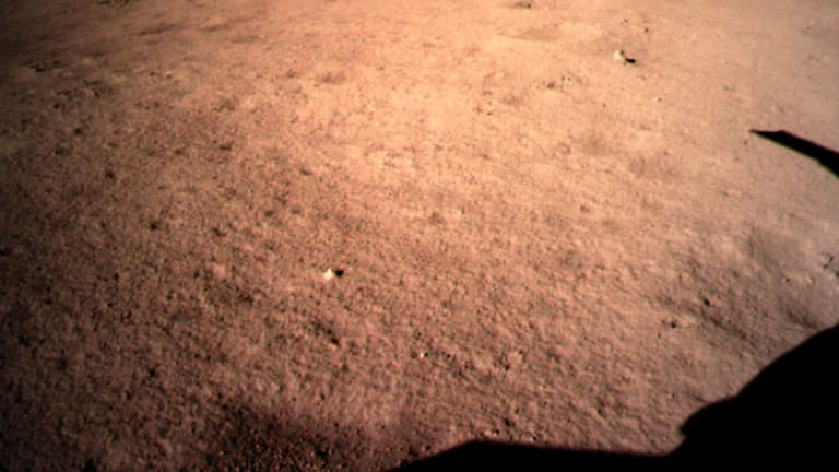 The first image of the late part of the month taken by China's Chang-e-4 probe.
