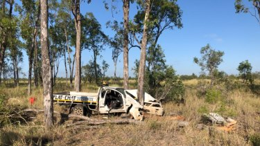 A 72-year-old Andergrove man was airlifted by RACQ CQ Rescue after his ute slammed into a tree in Central Queensland.