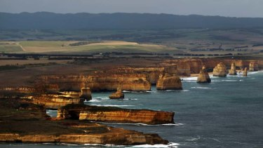 Erosion is worsened by rising seas. Pictured are the Twelve Apostles on the Great Ocean Road, which is suffering from coastal erosion.