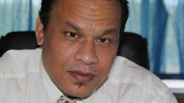 Sprent Dabwido as president of Nauru in 2011.