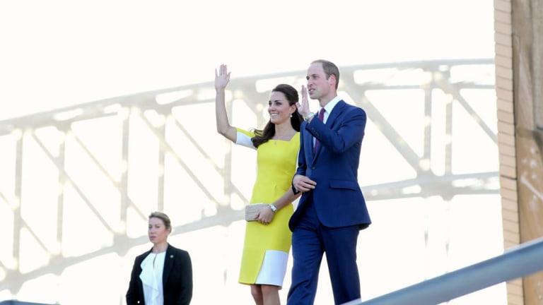 Prince William, Duke of Cambridge and Catherine, Duchess of Cambridge at Sydney Opera House.