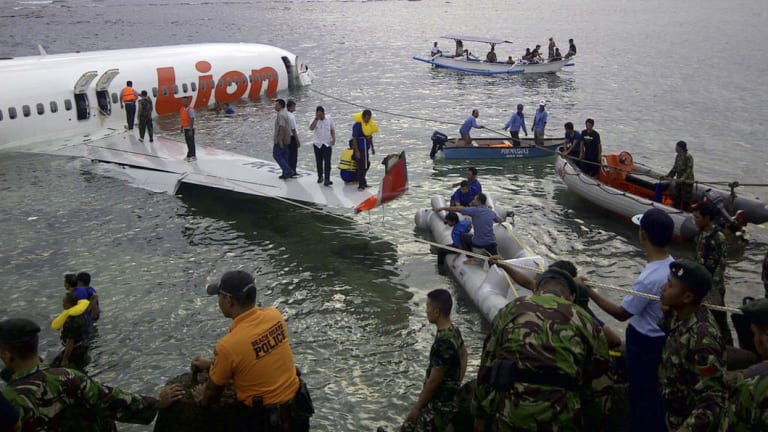 Crash site of the Lion Air plane in Indonesia.