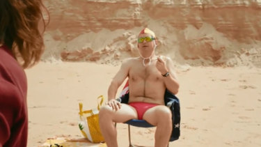 The ad featured a Tony Abbott impersonator ignoring someone drowning.