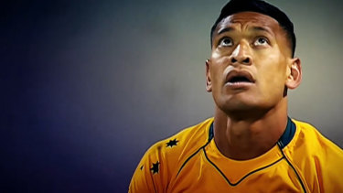 Sacked rugby player Israel Folau.