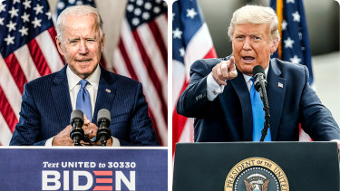 Joe Biden and Donald Trump's town halls were a study in contrasting styles.