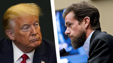 """Twitter chief executive Jack Dorsey said he took no pride in the decision to remove President Donald Trump's account from the service last week, but it was """"the right decision""""."""