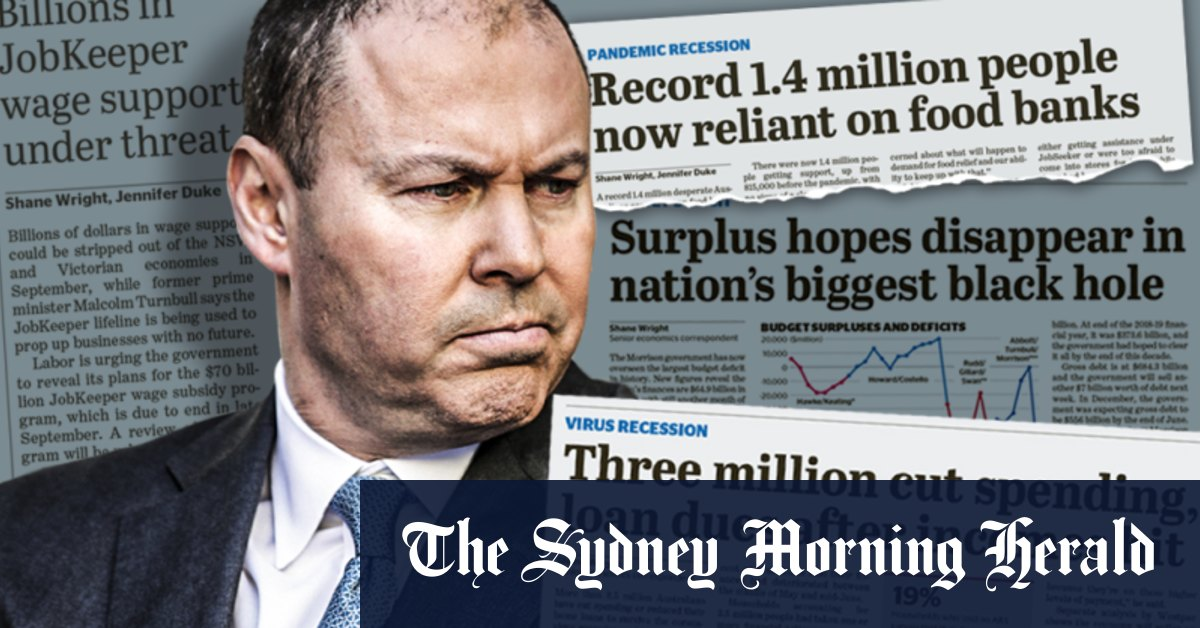 'We will get through this together': Frydenberg unveils biggest deficit since World War II – Sydney Morning Herald