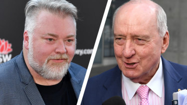 Kyle Sandilands, left, and Alan Jones.