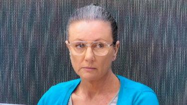 Serial killer Kathleen Folbigg giving evidence in April.