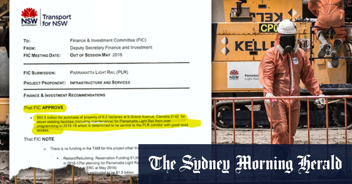 The secret $53m Sydney land deal that has left NSW taxpayers with an even bigger clean-up bill – Sydney Morning Herald
