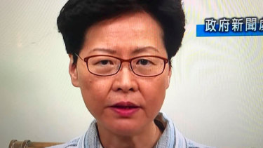 Hong Kong chief executive Carrie Lam this week.