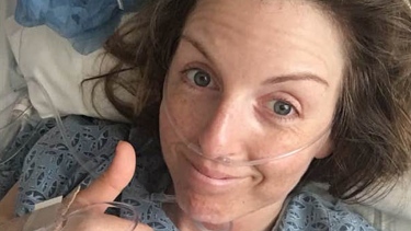 Claire Nelson recovering in hospital after being lost in the desert for four days.