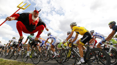 Thousands of fans pack the route for the Tour de France every year.