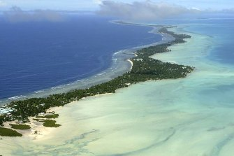 The Pacific archipelago of Kiribati.