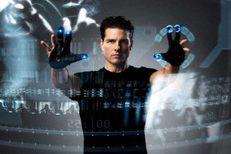 Movies such as the Iron Man franchise and Tom Cruise's Minority Report (pictured) depicted AR concepts without audiences realising what they were, experts say.