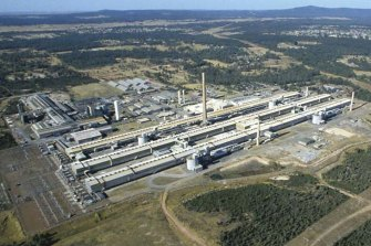 The former Norsk Hydro aluminium smelter at Kurri Kurri, near Newcastle, where the federal government is hoping to get Snowy Hydro to build a gas-fired peaking plant.