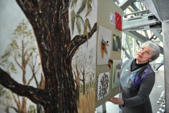 Then state CWA president Carol Clay at a Federation Square exhibition in collaboration with the CSIRO in August 2011.