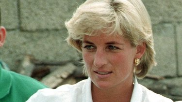 A more relaxed princess, Diana.