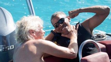 Richard Branson hosted former US president Barack Obama on Necker after Obama's second term.