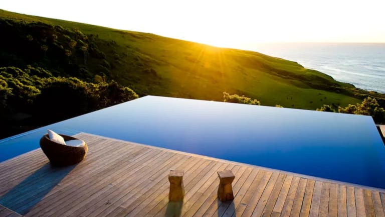 The Ocean Farm property in Gerringong is tucked away in the coastal forests.