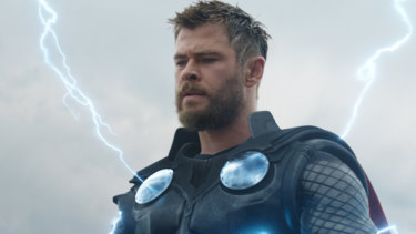 The image that produced the body policing of Chris Hemsworth (as Thor in Avengers Endgame).