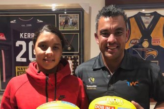 A bizarre video of former AFL player Daniel Kerr ranting about his soccer star sister Sam's success is circulating in the sporting community.