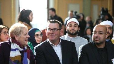 Premier Dan Andrews at the Bendigo Mosque construction ceremony.