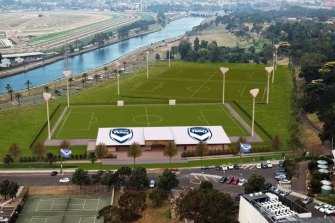 An artist's impression of the three pitches that would be the new base for Victory's women's and youth teams.