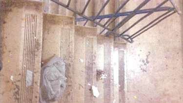 Garbage in stairwells that were required to be cleaned regularly under GJK's contract.