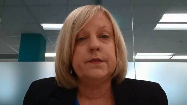 Police Minister Lisa Neville giving evidence to the inquiry on Wednesday.