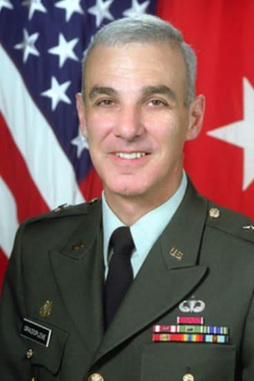Retired Major-GeneralJames Grazioplene, seen here as a one-star general.