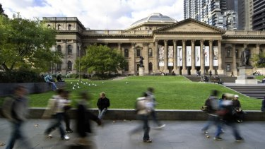 "The State Library of Victoria will have an ""enormous cavern"" built beneath it."