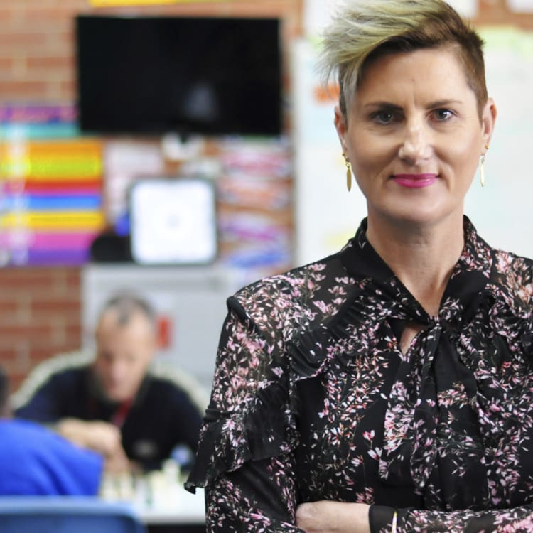 Acting principal youth education services Sandra Dusz runs classrooms catering to students of very different abilities.