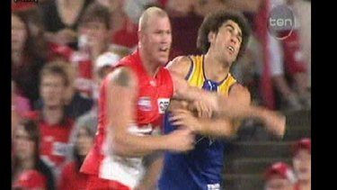 Barry Hall's vicious punch at an unsuspecting Brent Staker earnt him seven weeks on the sidelines in early 2008.