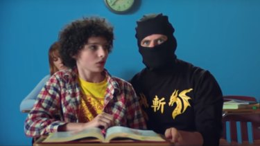 Stranger Things' Finn Wolfhard stars as a young version of Ninja Sex Party singer Dan in the comedy internet sensation's latest music video, Danny Don't You Know.