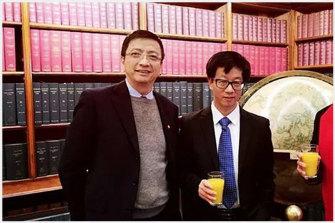 John Zhang (left) and Professor Chen Hong.
